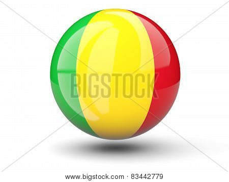 Round Icon Of Flag Of Mali