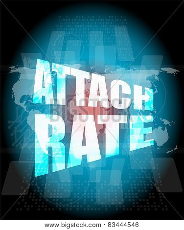 Attach Rate Words On Digital Touch Screen