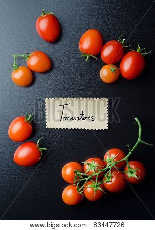 Cherry Tomatoes With Handwritten Note