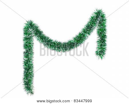 Christmas green tinsel.