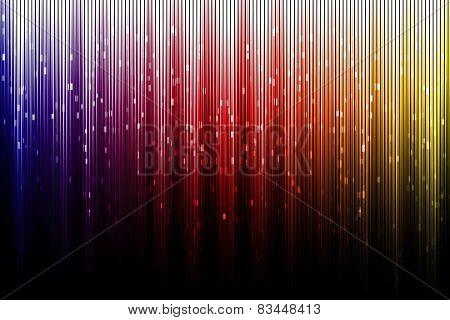 Artistic Digital Aurora Borealis