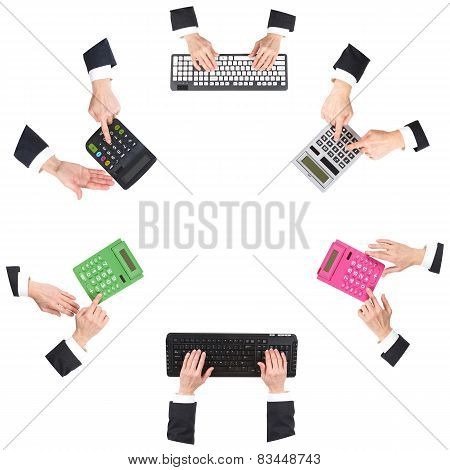 Hands At Office