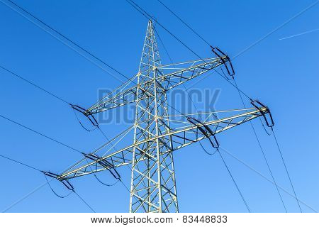 Transmission Tower With Power Lines