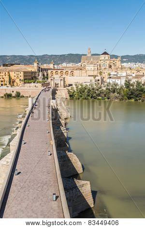 Roman Bridge In Cordoba, Andalusia, Southern Spain.