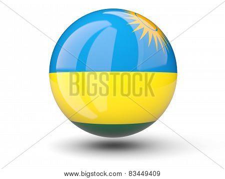 Round Icon Of Flag Of Rwanda