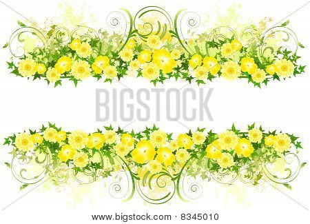 Floral decoration with yellow flowers