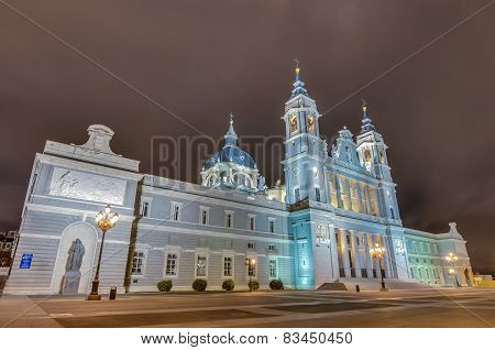 Almudena Cathedral In Madrid, Spain.