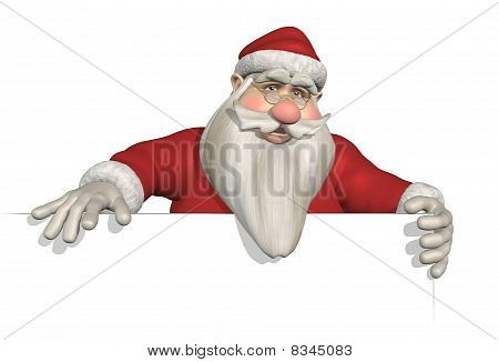 Santa Holding Sign Edge
