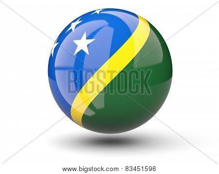 Round Icon Of Flag Of Solomon Islands