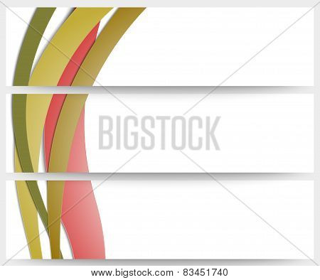 Abstract headers set, wave vector design