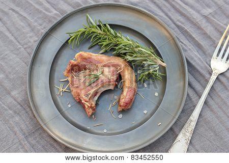 Lamb cutlet.