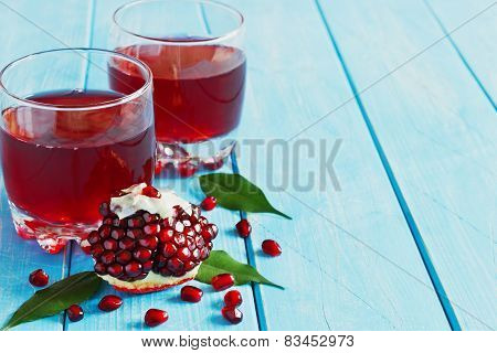 Juice From Fresh Pomegranate Seeds