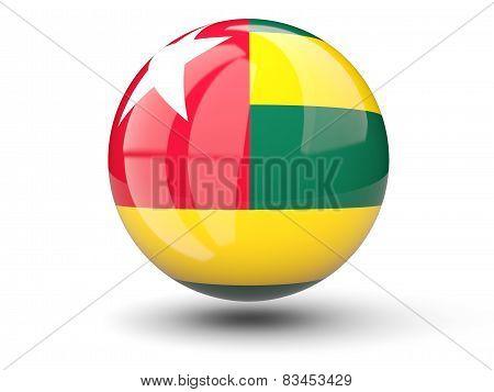 Round Icon Of Flag Of Togo