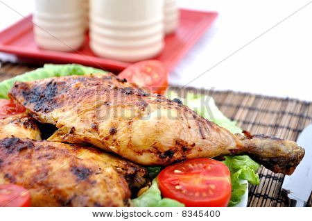 Roasted Chicken Drumsticks And Vegetables