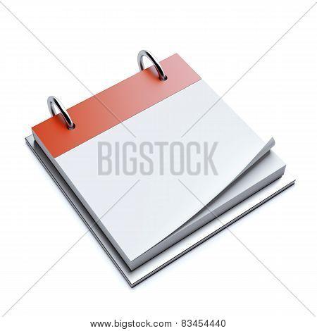 Red blank calendar