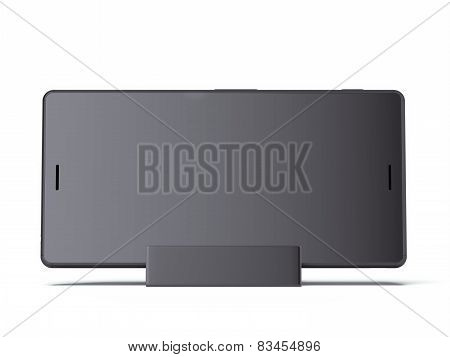 Phone on Charging Stand