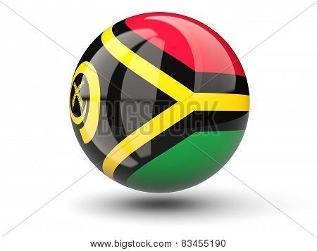 Round Icon Of Flag Of Vanuatu