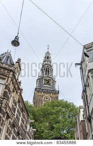 Oude Kerk (old Church) In Amsterdam, Netherlands.