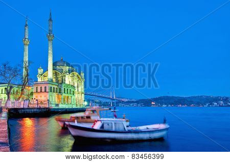 Ortakoy Mosque At Istanbul