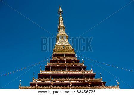 Temple in Thailand Phra-Mahathat-Kaen- Nakhon, Khon Kaen province, Thailand