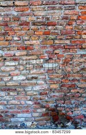 Orange Old Brick Wall