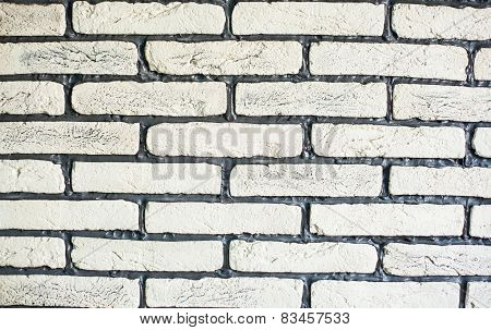 Brick Wall Design As Mortar Background Texture