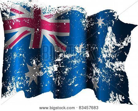 Australian grunge flag