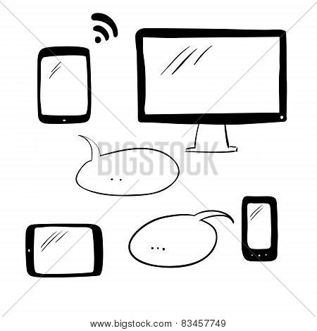 Doodle electronic devices