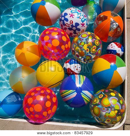 Beach Balls In A Pool