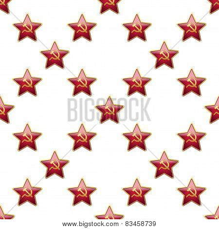Universal vector badge Soviet Union stars seamless patterns tiling.