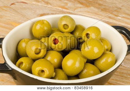 Pepper Stuffed Olives Tapa