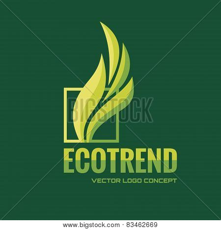 Ecotrend - vector logo concept illustration. Leafs logo. Abstract sign. Vector logo template.