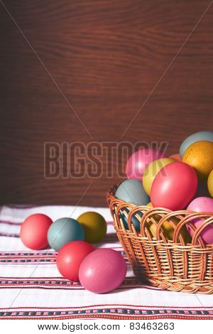 Pastel Coloured Easter Eggs