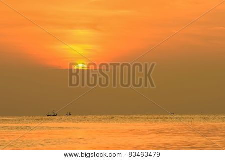 Sunrise In The Ocean