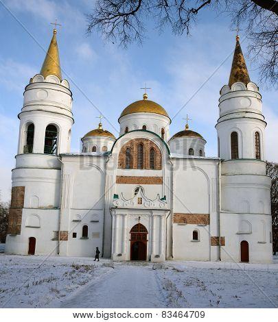 Transfiguration Cathedral, Chernihiv, Ukraine, In Winter