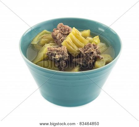 Bowl Of Gourd Soup With Pork Bones
