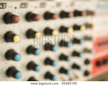 Blurry of power mixer ,mixer