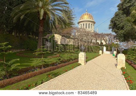 The Bahai Temple and gardens in Haifa, Israel