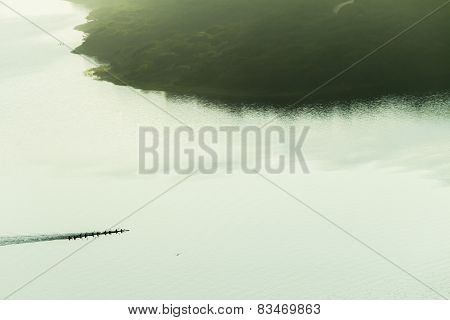 Canoeing Waters Air Landscape