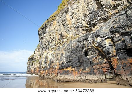 Tall Cliffs Of Ballybunion On The Wild Atlantic Way