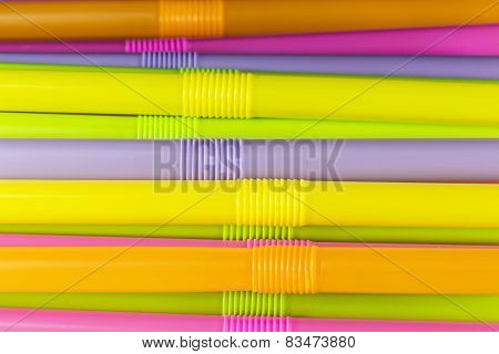 Colorful Straw Background