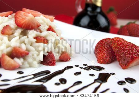 Strawberry Risotto With Traditional Italian Balsamic Vinegar