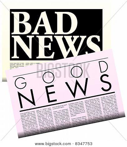 Newspapers With Lorem Ipsum Copy