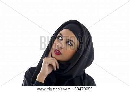 Portrait of a beautiful Arabian Woman wearing Hijab, Muslim Woman wearing Hijab