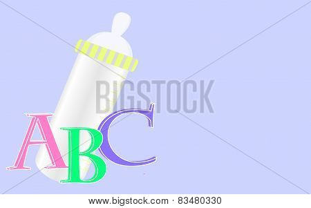 Background with baby bottle