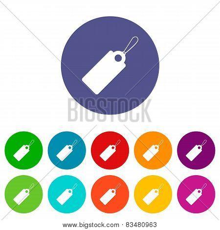 Price tag flat icon