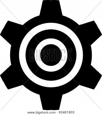 Icon - gear - black
