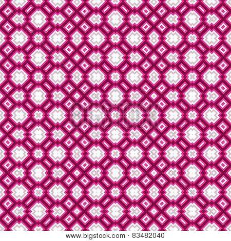 Geometrical Pattern In Pink And White
