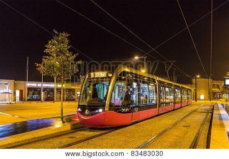Alstom tram in Dijon