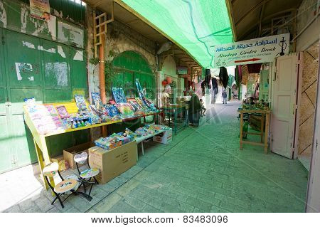 Bazaar in Hebron